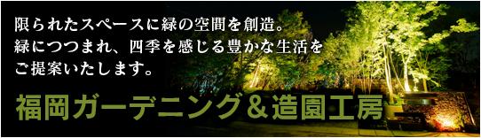 限られたスペースに緑の空間を創造。緑につつまれ、四季を感じる豊かな生活をご提案いたします。「福岡ガーデニング&造園工房」